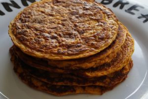 Perfect Pumpkin Protein Pancakes -