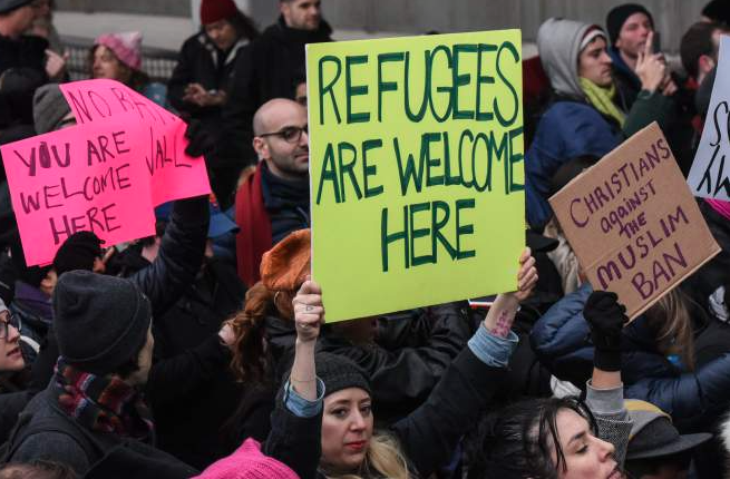 Refugees and Immigrants are Welcome Here -