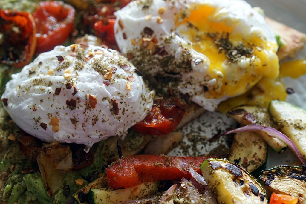Za'atar Poached Eggs -